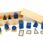 Hướng dẫn sử dụng sản phẩm Geometric Solids trong Montessori