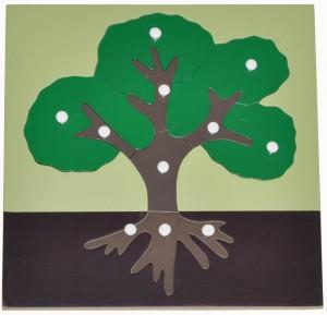 Giáo cụ Montessori TREE PUZZLE & Hướng dẫn sử dụng